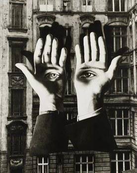 """Herbert Bayer, """"Einsamer Großstädter"""", 1932/1969, """"Fotomontage"""" (Foto: Christian P. Schmieder, München)"""