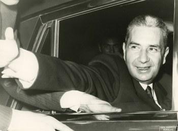Visita in veste di Presidente del Consiglio  Monselice (Padova), 31 marzo 1968  Centro documentazione Archivio Flamigni, Fondo Aldo Moro, Fotografie