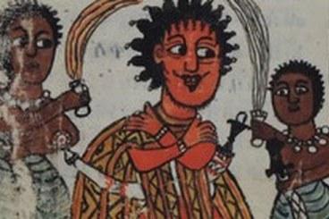 Illuminated Ethiopic Manuscript. Ethiopic Manuscript. Image kindly supplied by Ethio- SPaRe, EU 7th Framework Programme, ERC Starting Grant 240720, PI Denis Nosnitsin, 2009-2015, <http://www1.uni-hamburg.de/ethiostudies/ETHIOSPARE>.