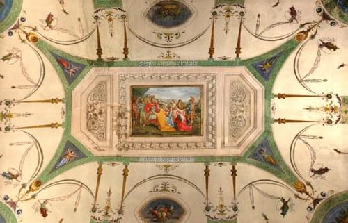 Detail of a fresco in Room D - Palazzo Santa Croce - Via Guaccimanni 42 - Ravenna  Year: 2013 © University of Bologna