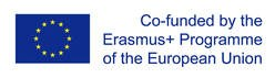 Flag of the European Union and statement: co-funded by the Erasmus+ Project of the European Union
