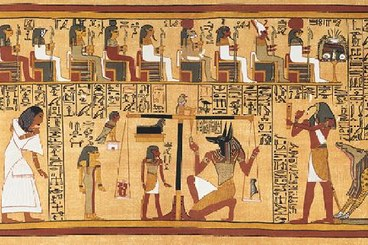 The Papyrus of Ani (TM 134357 ) is one of the most impressive examples of the so-called Book of the Dead, a kind of guide to help deceased in the afterlife. It was acquired by the egyptologist Budge in the late nineteenth century and sold to the British Museum, where it is still kept today. Dated to the 19th Dynasty and written in cursive hieroglyphs for the scribe Ani, it is particularly well-known for its colorful illustrations and its size (over 23 metres long, now cut in 37 sheets).https://www.trismegistos.org/index_gallery.php?tex_id=134357
