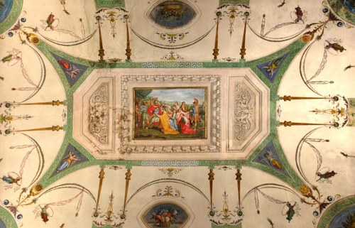 Particolare di affresco in Aula D - Palazzo Santa Croce - Via Guaccimanni 42 - Ravenna  Anno: 2013 © Università di Bologna