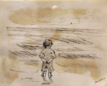 *Edward Hopper, Little Boy Looking at the Sea 1891.