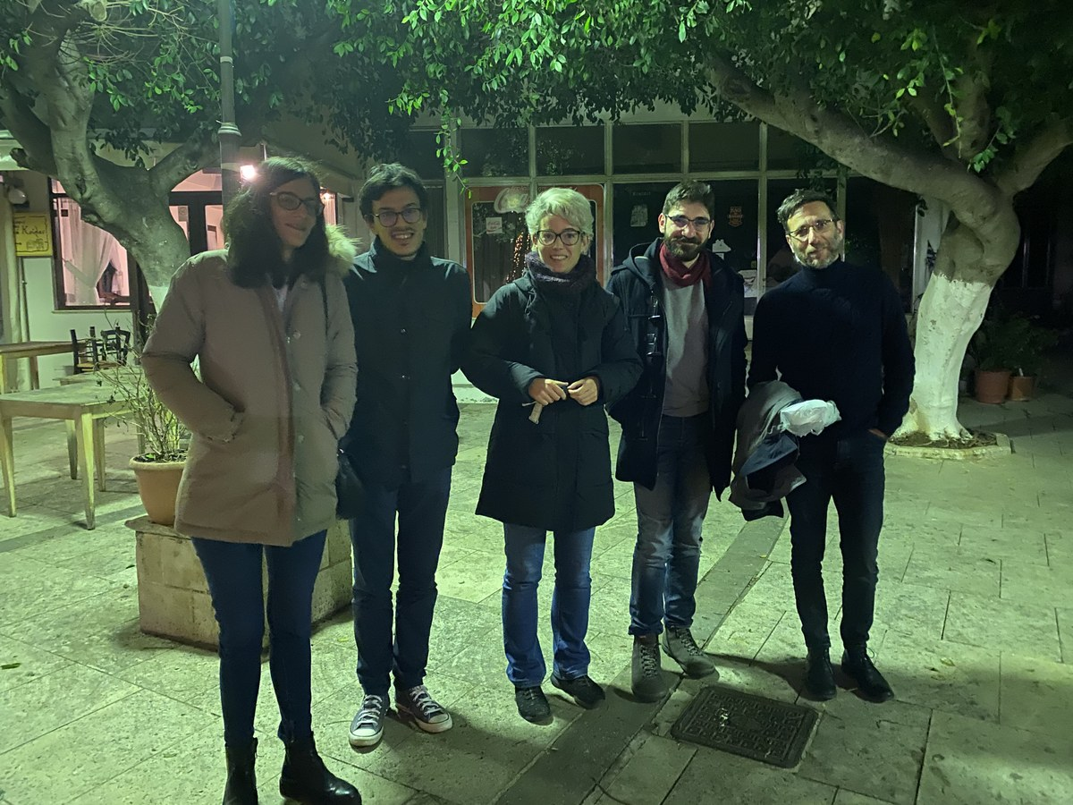The team with Kostis Christakis (Knossos Curator, BSA, Knossos Research Centre), Scientific Advisor of INSCRIBE.