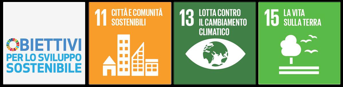 Obiettivi ONU 11, 13 e 15 per lo svilutto sostemibile