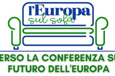 logo del ciclo L'Europa sul sofà - verso la Conferenza sul futuro dell'Europa