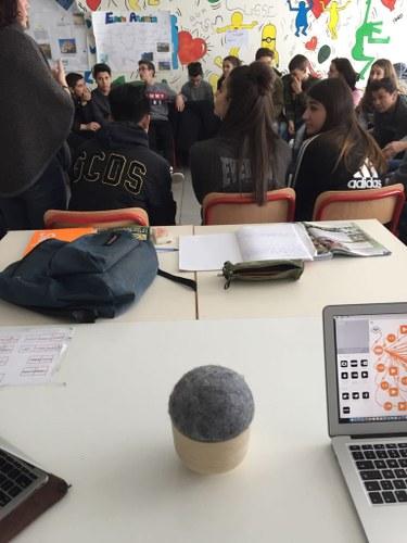 studenti in classe, Scandicci, Firenze, 2017