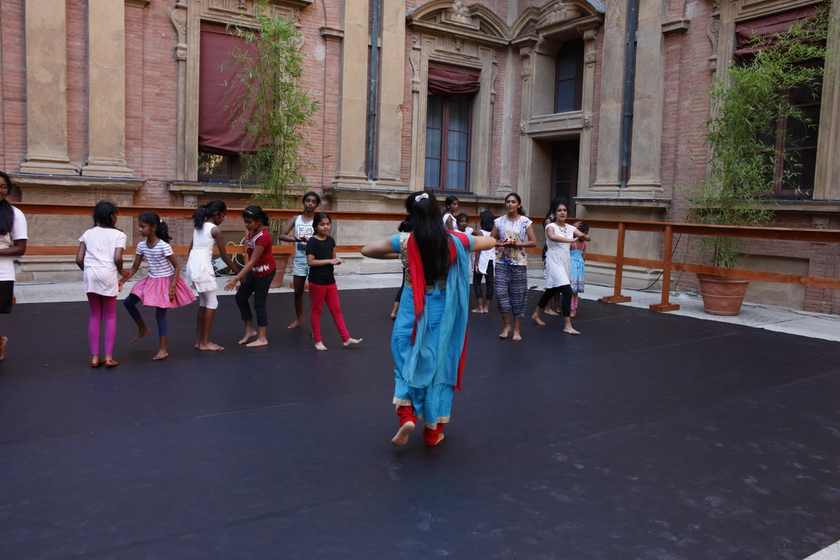 Immagine: Prove dello spettacolo. Bologna, 5 luglio 2017. Foto di Luca Del Pia