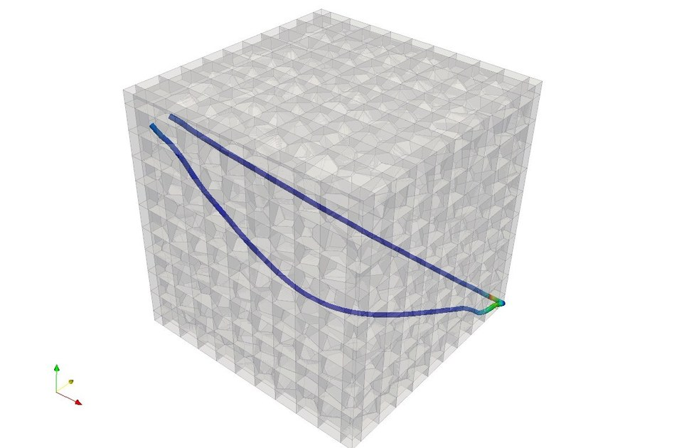 3D structured block model and streamlines