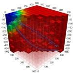 3D perturbed regular grid - pathlines